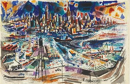 David Fredenthal American, 1914-1958 New York from New Jersey
