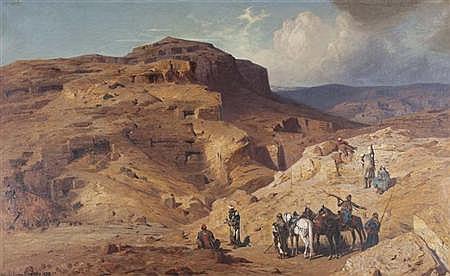 Ludwig Hans Fischer German, 1848-1915 Bedouin near Masada, 1880
