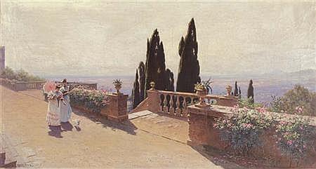 Ludwig Hans Fischer German, 1848-1915 A Midday Stroll, 1894