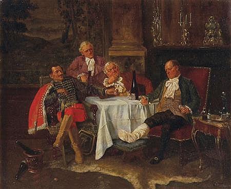 Albert Joseph Franke German, 1860-1924 Dulling the Pain