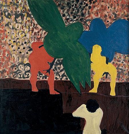 Bob Thompson American, 1937-1966 Men and Birds, 1963
