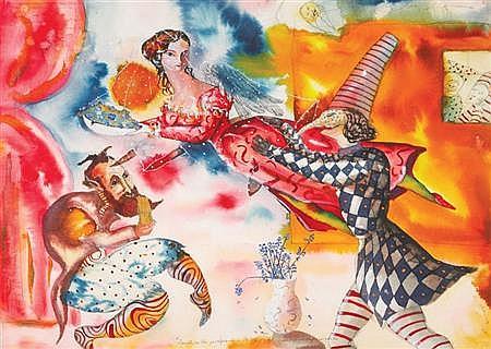 Jorge Zeno American, b. 1956 Carnival, 1982