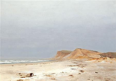 Lockwood de Forest American, 1850-1932 Beach, Montauk, Long Island, 1886