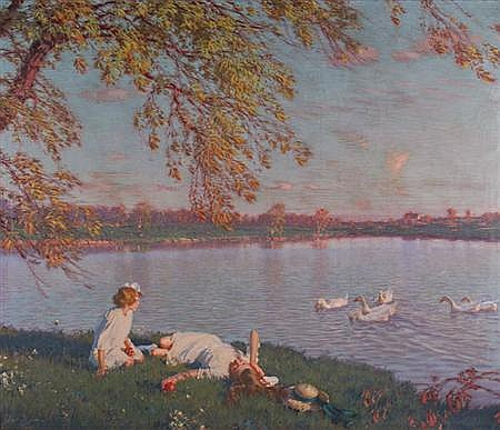 Edward Dufner American, 1872-1957 Youth and Sunshine, 1916