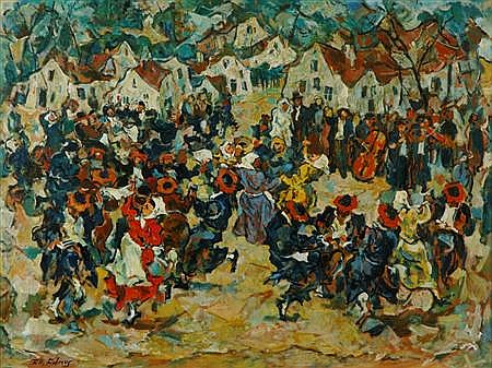 Tully Filmus Russian/American, 1903-1998 Village Celebration
