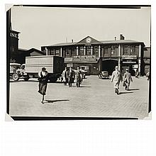 ABBOTT, BERENICE (1898-1991) Ferry, Chamber Street, Manhattan, 1936].