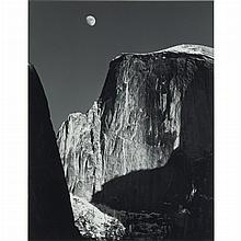 ADAMS, ANSEL (1902-1984) Moon and Half Dome, Yosemite National Park [1960].