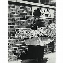 BRANDT, BILL (1904-1983) Flower seller in Hampstead 1930s.
