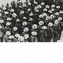CORRALES, RAUL (b. 1925) [Los Sombreritos (The White Hats), 1960]. Gelatin silver print, 8 3/4 x 13 1/8 inches (225 x 335 mm...