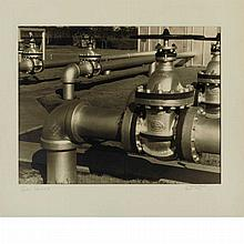 CHEESMAN, ARTHUR A. Gas Valves, 1930. Vintage gelatin toned silver print, 8 1/2 x 11 inches (218 x 278 mm), signed dated and...