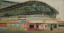 David Levine  American, 1926-2009 Bobsled, Coney Island, 1967 Signed D. Levine and dated 67 (lr); titl...