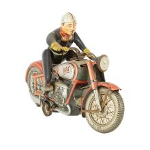 Arnold Mac 700 Wind-Up Motorcycle Tin Litho Toy