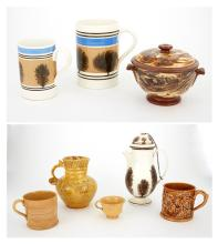 Group of English and Continental Pottery Articles