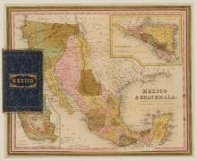 MITCHELL, SAMUEL AUGUSTUS Mexico & Guatemala. Philadelphia: Mitchell, 1846. Folding pocket map with original cloth binding s...