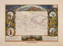 [MAPS-FRANCE] LEVASSEUR, VICTOR. Large group of maps from the 1852 and 1861 editions of the Atlas National. Paris: Combette...