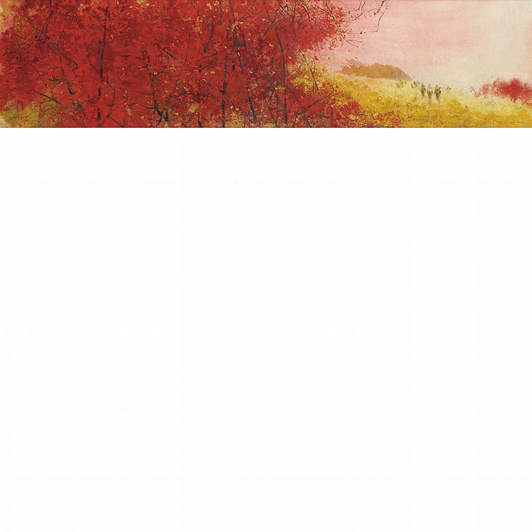 Chen Chi Chinese/American, 1912-2005 Autumn Red