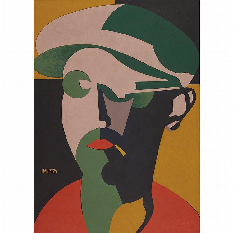 Karl Hermann Haupt German, 1904-1983 Selbstbildnis, 1924