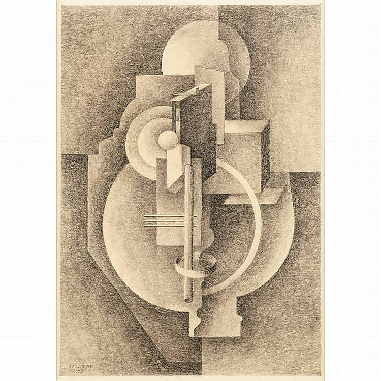 Paul Kelpe American, 1902-1985 Composition #180, 1928