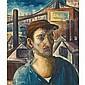 Paul Raphael Meltsner American, 1905-1966 Dockworker with Bridge Scene, circa 1937, Paul R Meltsner, Click for value