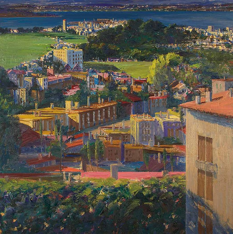 Larry Cohen American, b. 1952 View of Angel Island, San Francisco