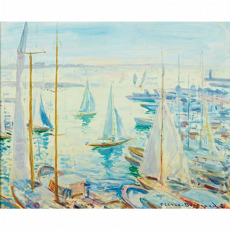 Pierre Philippe Bertrand French, 1884-1975 Jour de Regates a Cannes