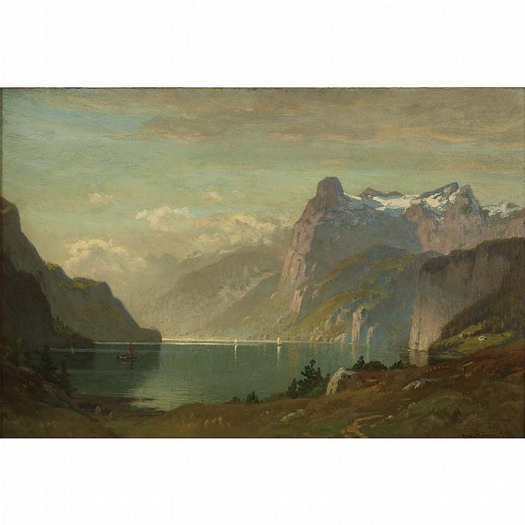 John Joseph Enneking American, 1841-1916 Morning, Lake Lucerne, 1877
