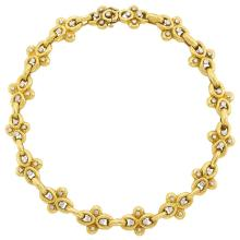 Gold and Diamond Link Necklace, David Webb
