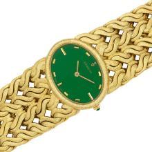 Lady''s Wide Gold Wristwatch, Corum