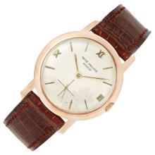 Gentleman''s 3/4 Size Rose Gold Wristwatch, Patek Philippe