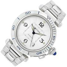 Gentleman''s Stainless Steel ''Pasha'' Wristwatch, Cartier, Ref. 2378