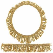 Gold Fringe Necklace and Bracelet
