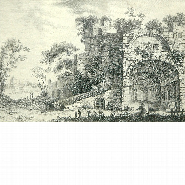 Gabriel Perelle French, 1603-1677 Castle in Ruins