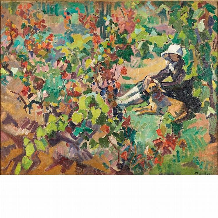 Andre Claudot French, 1892-1982 Dans La Vigne (Le Matin)