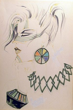 Antonio Lopez Original Drawing