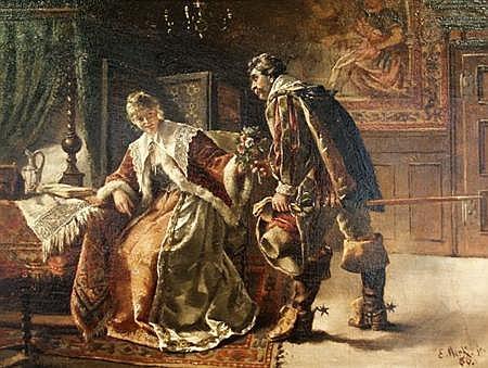 Eduard Merk German, 1816-1888 The Suitor