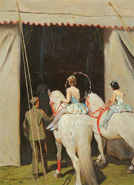 Victor Coleman Anderson American, 1882-1937 Riders in the Spectacle