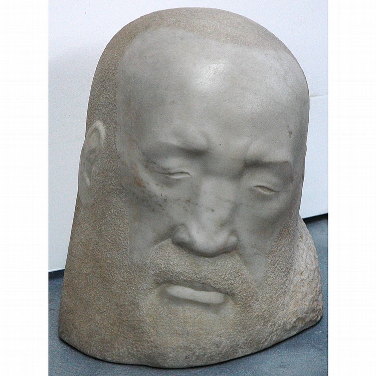 George Manuel Aarons American 1896 1980 Head Of A Man Signed And Dated