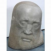 George Manuel Aarons American, 1896-1980 Head of a Man Signed Aarons and dated 1947 Marble Height...
