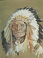 Ernest Berke American, b. 1921 Indian Chief, Ernest Berke, Click for value