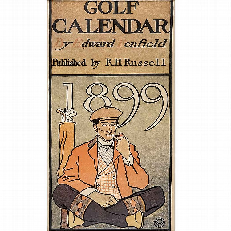 Edward Penfield (1866-1925) GOLF CALENDAR Ten color lithographs
