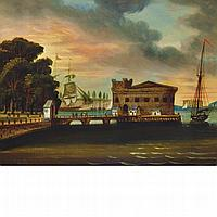 John Rubens Smith American, 1775-1849 View of Battery Park at Castle Garden, New York, 1845