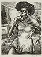Marion Greenwood BATHSHEBA; BLACK PEARL; 8TH STREET ODALISQUE Lithographs (3), Marion Greenwood, Click for value