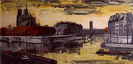 Federico Lloveras Herrera Spanish, 1912-1983 Notre Dame at Sunset, 1968