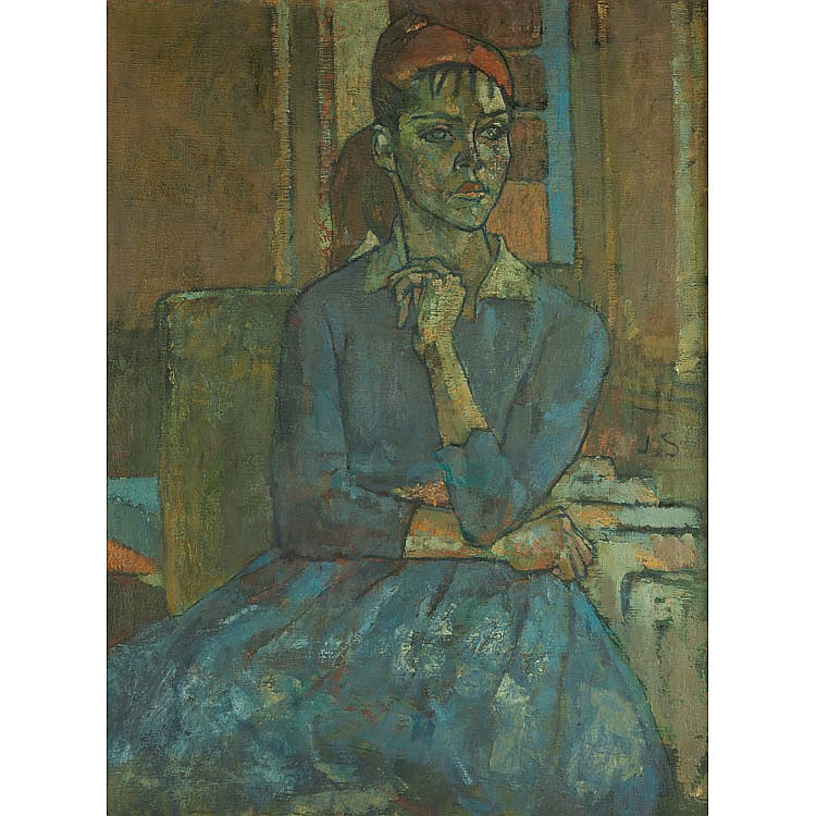 Joseph Solman American, 1909-2008 Seated Woman