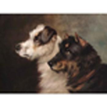 John Arnold Wheeler (British, 1821-1903) Terriers; a King Charles spaniel and a retriever each 9 1/2 x 12in. (24 x 30.5cm.) (2)