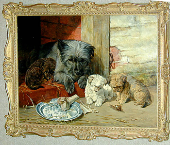 William Luker Snr. (British, 1828-1905) Curiosity 18 x 24in. (45.5 x 61cm.)