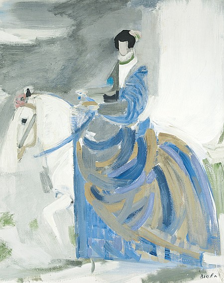 Janice Biala American, 1903-2000 Riding Figure