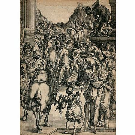 Jacques Bellange (1575-1616) ADORATION OF THE MAGI Etching and engraving