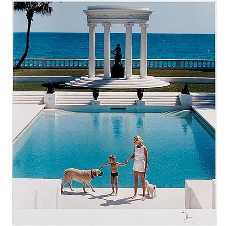 AARONS, SLIM (1916-2006) Untitled [Mrs. F. C. Winston Guest at the Villa Artemis Pool],