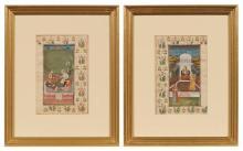 Two Similar Indian Miniatures
